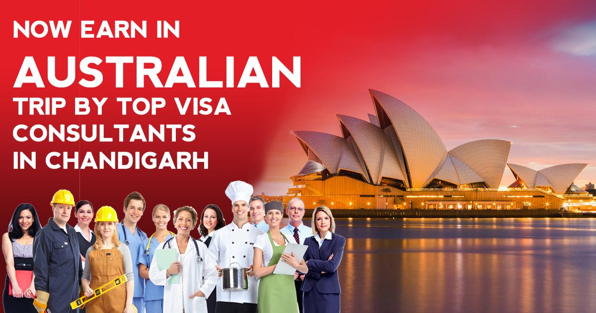 Now earn in Australian trip by Top visa consultants in Chandigarh